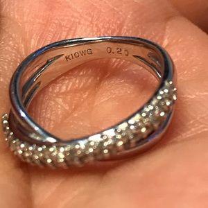 Diamonds Jewelry - Diamond 10K White Gold (K10WG) Ring Size 3